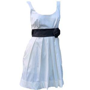 Speechless White Satin Sleeveless Mini Dress